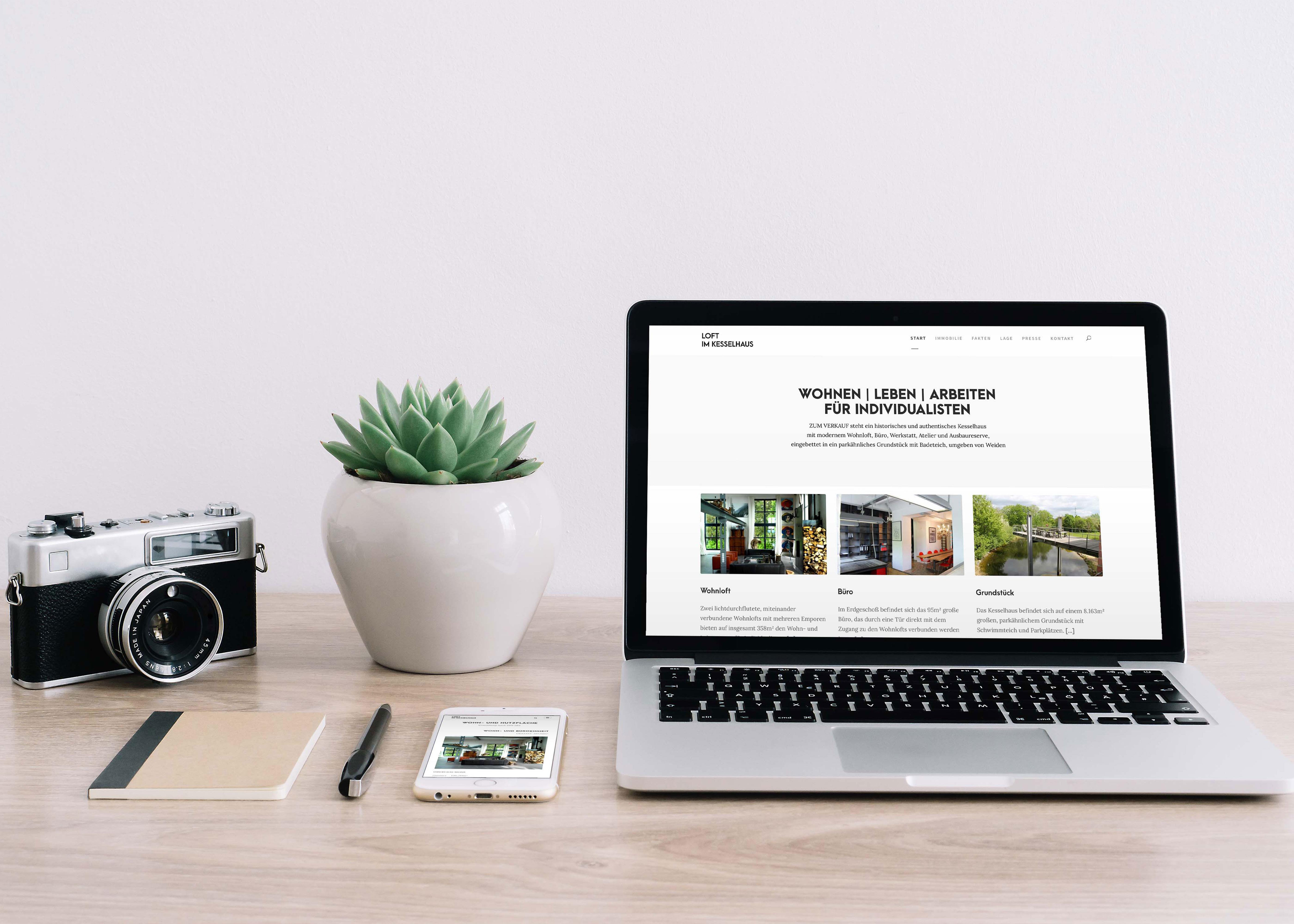 Website Kesselhaus Loft
